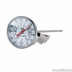 "0° to 220° F  Thermometer pan clip 8 inch probe 1.75"" Larg"