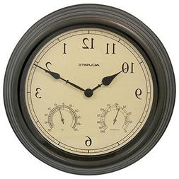 "01063 15"" Copper Patina Indoor or Outdoor Clock with Thermom"