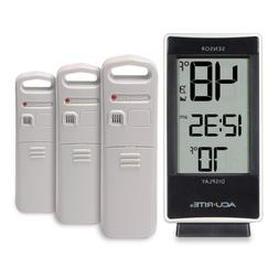 AcuRite 01090M Multi-Sensor Thermometer with 3 Indoor/Outdoo
