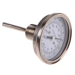"""1/2"""" NPT Stainless Steel Thermometer for Brew Pot Moonshine"""