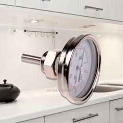 """1/2""""Stainless Steel Thermometer for a Moonshine Still Conden"""