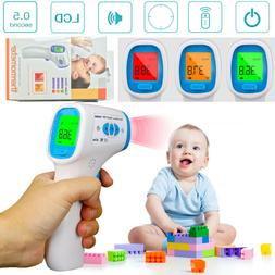 1 PC LCD Digital Non-contact Infrared Fordhead Thermometer f