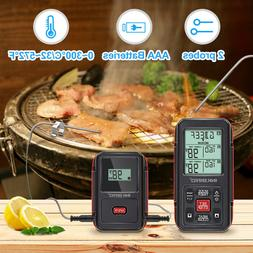 1000 ft Wireless BBQ Cooking Thermometer 32-572℉ Timer Gri