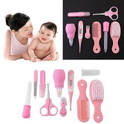 10pcs Baby Newborn Health Care Set Nail Hair Brush Thermomet
