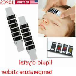 10PCS Forehead Thermometer Strip Head Fever Body Temperature