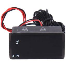 12V Small Car Digital LCD Display Indoor Outdoors Temperatur