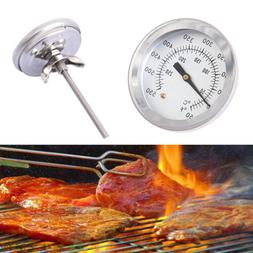 1x Stainless Steel Barbecue BBQ Smoker Grill Thermometer Foo