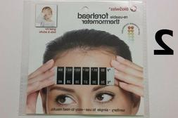 2 Baby Kids Adults Forehead Strip Head Thermometers Fever Re