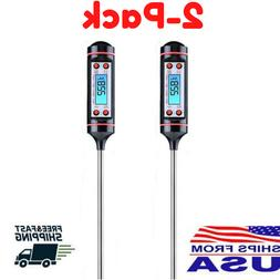 2-PCS Digital Thermometer Instant Read Kitchen Food Cooking
