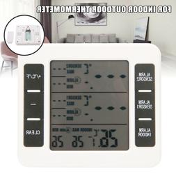 2 sensors wireless digital freezer alarm thermometer