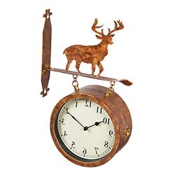 2 sided wall clock thermometer