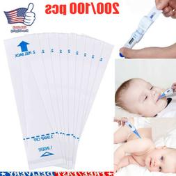 200 Pcs Digital Thermometer Probe Covers Disposable Protecto