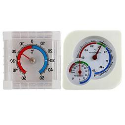2pcs plastic mechanical thermo hygrometer and stick