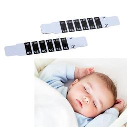 2x Baby Kids Adults Forehead Strip Head Thermometers Fever R