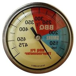 """3"""" BBQ SEALED SS COMMERCIAL Thermometer Barbecue Smoker Temp"""