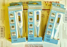 3pk Electronic Bendable Digital Thermometer Oral,Rectal,Arm