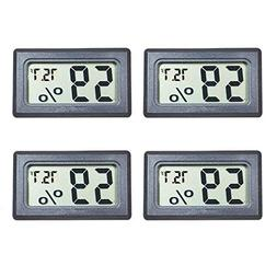 Veanic 4-Pack Mini Digital Electronic Temperature Humidity M