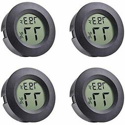 4-pack Mini Hygrometer Thermometer Fahrenheit Or Celsius Met