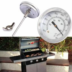 50~550 ℉ BBQ Smoker Grill Thermometer Stainless Steel Barb