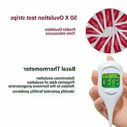 50 Ovulation  Test Strips  &  Fast Basal Thermometer 1/100t