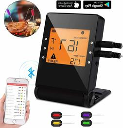 3 Probes Wireless Bluetooth BBQ Meat Thermometer Food Cookin