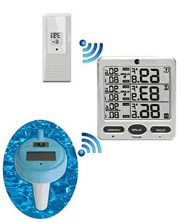 Ambient Weather WS-20 Wireless 8-Channel Floating Pool and S