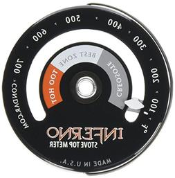 Inferno Stove Top Meter  thermometer measures temperatures o