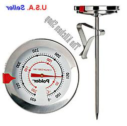 Polder THM-511N Candy/Deep Fry Thermometer, Stainless Steel