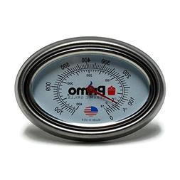 Primo Grill Thermometer and Bezel Combo for Primo Ceramic Gr