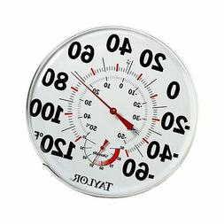 "Taylor 497 12"" Outdoor Thermometer Temperature/Humidity Gaug"
