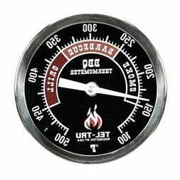 Tel-Tru BQ300 Barbecue Thermometer, 3 inch black dial with z