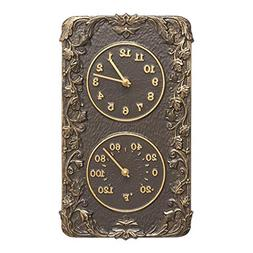 Whitehall Products Acanthus Combo Clock, French Bronze by Wh