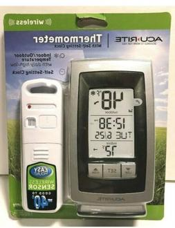 Acu-Rite Wireless Indoor Outdoor Thermometer with Self-Setti