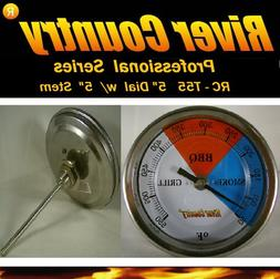 """River Country 5""""  Adjustable BBQ Grill Thermometer 50 to 550"""
