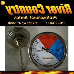 "3"" River Country  Adjustable BBQ, Grill, Smoker Thermometer"