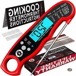 Alpha Grillers Instant Read Meat Thermometer for Grill and C