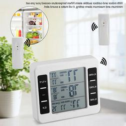 Audible Alarm Refrigerator Thermometer with 2PCS Sensor Min/
