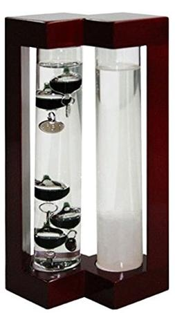 Ambient Weather AW-YG737S-RD Admiral Fitzroy Storm Glass and