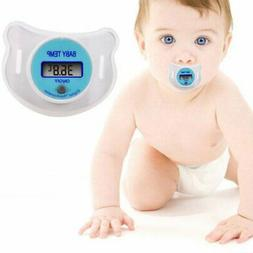 Safety Baby Mouth Nipple Thermometer LCD Digital Pacifier Te