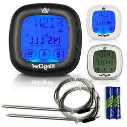 King Chef Barbecue Digital Meat Thermometer & Timer w/ 2 Sta