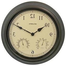 Big 15-Inch Outdoor Wall Clock Combo Analog Thermometer Hygr