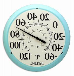Big and Bold Dial Thermometer, Sky Blue, 13.25-In.