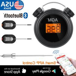 Bluetooth Digital BBQ Thermometer Wireless Cooking Food 2 Pr