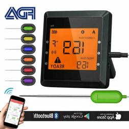 Bluetooth Meat Thermometer Instant Read with 6 Probes APP WI