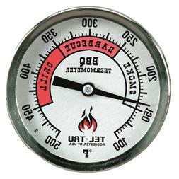 Tel-Tru BQ300 Barbecue Thermometer, 3 inch aluminum zoned di