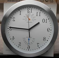 IKEA BRATTBY Modern Wall Clock w/ Thermometer and Hygrometer