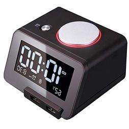 Homtime C1 Pro Alarm Clock for Bedrooms with Bluetooth Spea
