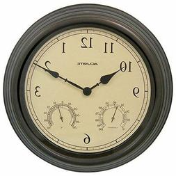 Chaney Accurite 15 Inch Combo Clock w/ Thermometer & Hygrome