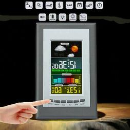 Color Digital LCD Weather Station Screen Thermometer Indoor