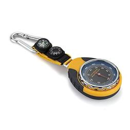 SODIAL 4in1 Compass Barometer Thermometer With Carabiner Cam